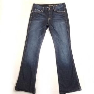 7 For All Mankind A Pocket Bootcut Blue Jeans 30